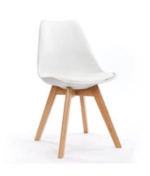 jackie stuhl wei mit pu sitzfl che pyntshop. Black Bedroom Furniture Sets. Home Design Ideas