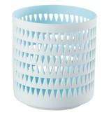 Créton Maison Teelichthalter MILA hellblau/weiß