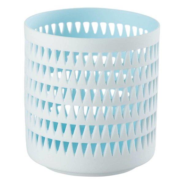Teelichthalter MILA hellblau/weiß