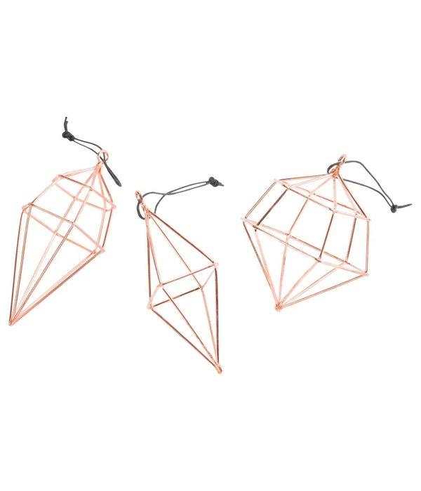 Créton Maison Diamond Hänger Set in copper 3er