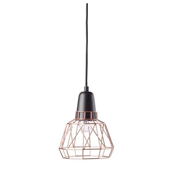 ELTON Loftlamp klein Schwarz/Kupfer