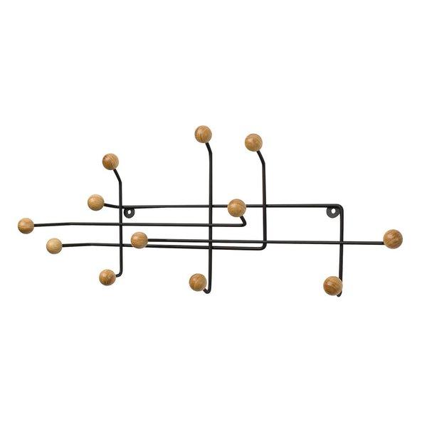 Garderobenhänger Schwarz / Holzkugeln