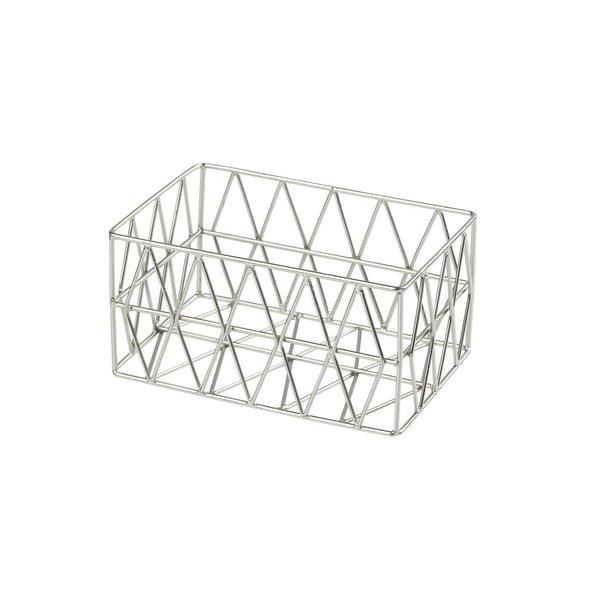Triangle Metall Basket Korb silber XS