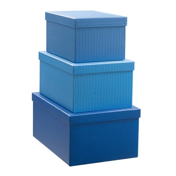 Geschenkboxen Set 3'er cobalt blau
