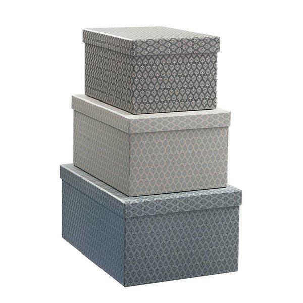 Geschenkboxen Set 3'er grau