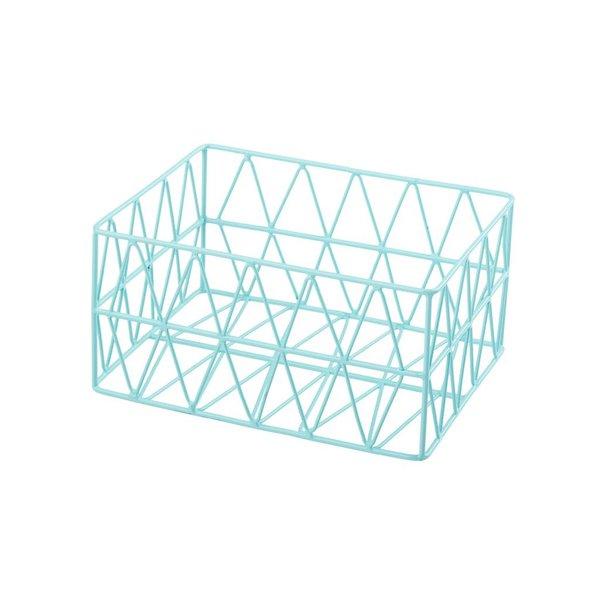 Triangle Metall Basket Korb hellblau S
