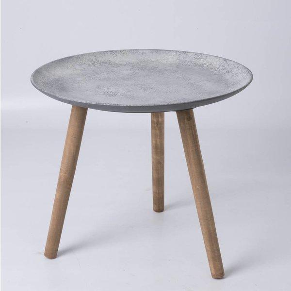 Beistelltisch mit Betonoberfläche Ø: 55 cm