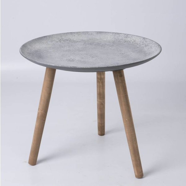 Beistelltisch mit Betonoptikoberfläche Ø: 55 cm