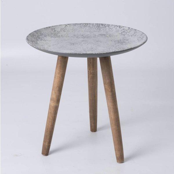 Beistelltisch mit Betonoptikoberfläche Ø: 45 cm
