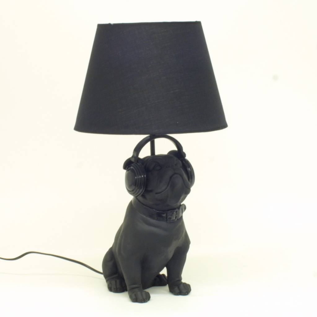 lampe bulldog mit lampenschirm schwarz 220 240v 50hz e14 max esl 7w e14 max 40 w material. Black Bedroom Furniture Sets. Home Design Ideas