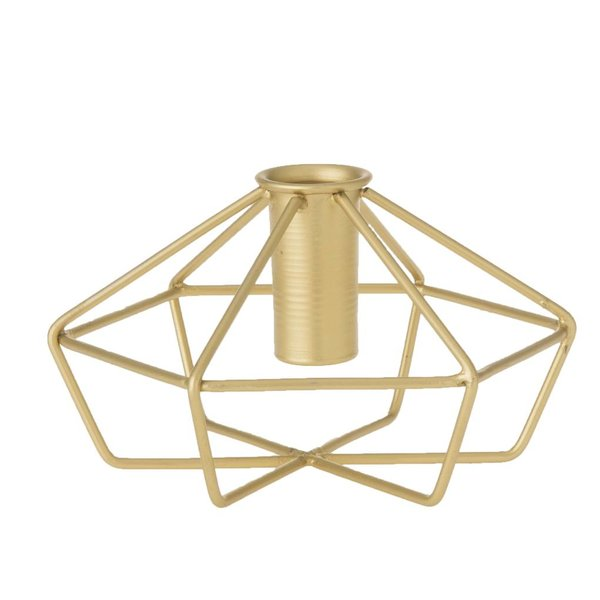Kerzenhalter Draht - Ø 14 cm - Messing