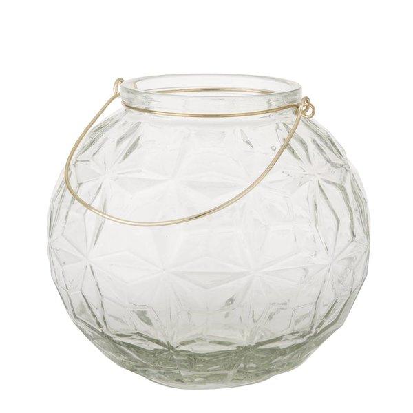 Kugel-Laterne/Vase Rund mit Griff - Ø 23 cm - Klar