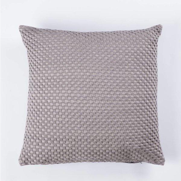 Kissen - Viereckig 45x45 - Kreis Muster - Dunkelgrau