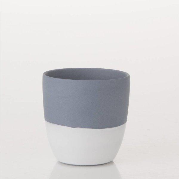 Teelicht Blau/Weiss