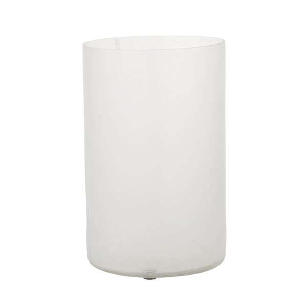 Vase Frosted - D12xH20 - Weiss