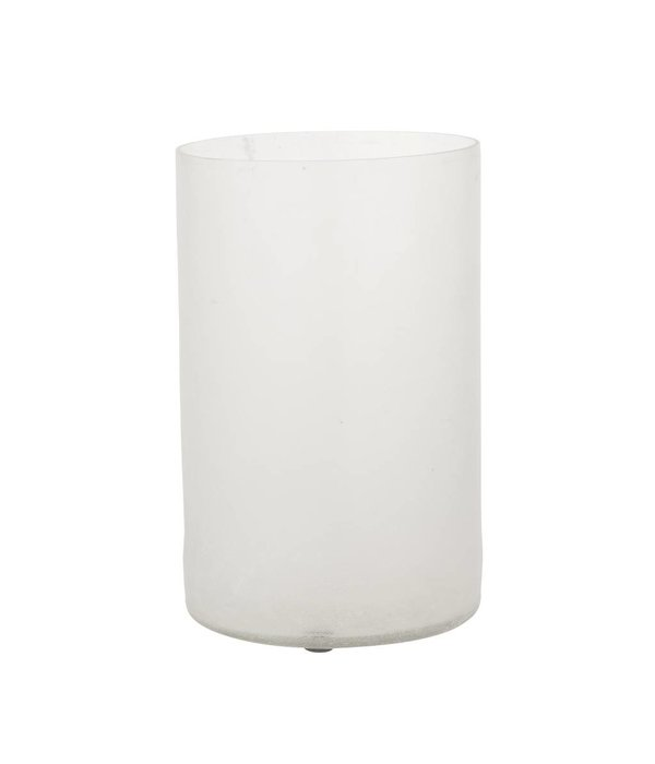 HomeartByBahne Vase Frosted - D12xH20 - Weiss