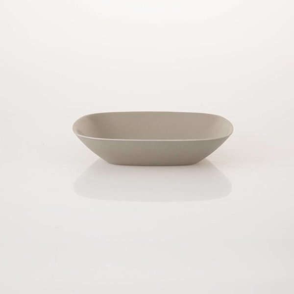 Teller/Schale, Grau, Bambus, Ø20 cm