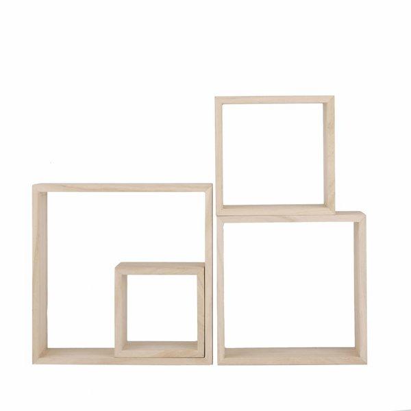 Wandkästen - 4'er Set - Holz