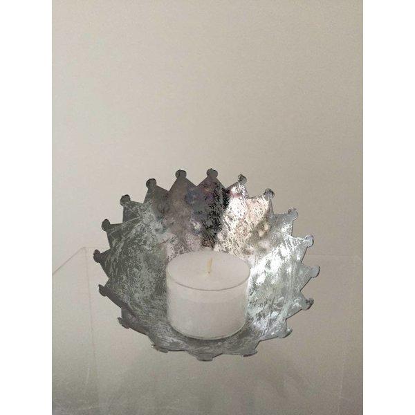 Teelichthalter - Ø 11,5 cm - silber
