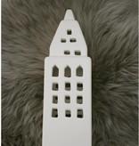 Créton Maison Teelichthaus - Créton Maison - weiß - Höhe 22 cm