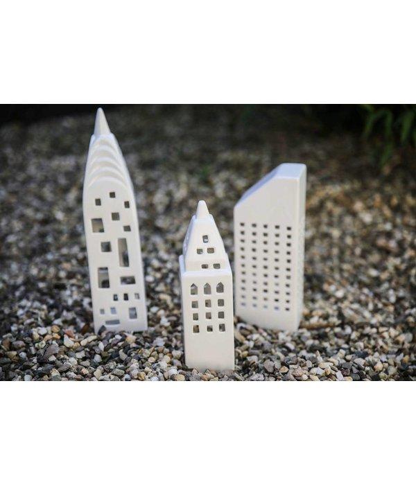 Créton Maison Teelichthaus - Créton Maison - weiß - Höhe 30 cm  - Copy