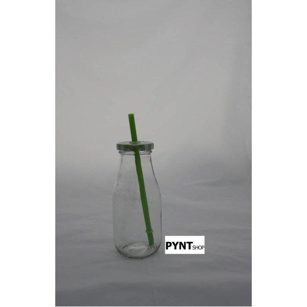 Trinkflasche mit Strohhalm
