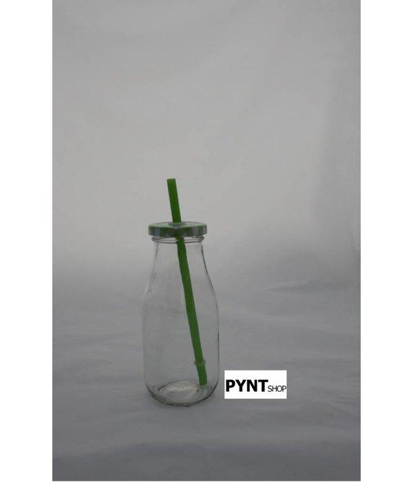 Pyntshop Trinkflasche mit Strohhalm grün
