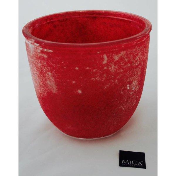 Blumentopf/ Vase  in frosted Optik, berry