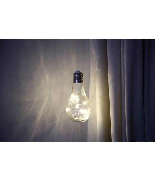 Boltze Glühbirne mit Lichterkette zum Aufhängen Batterie