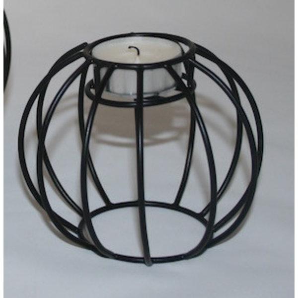 Kerzenhalter Kerzenständer Draht schwarz rund klein
