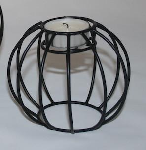 kerzenhalter draht rund schwarz klein pyntshop. Black Bedroom Furniture Sets. Home Design Ideas