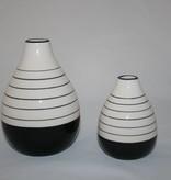 Pyntshop Vase Porzellan schwarz weiß klein