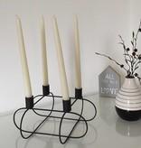 Pyntshop Kerzenhalter Kerzenständer Draht schwarz viereckig