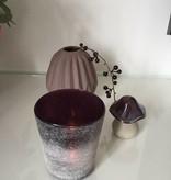 Pyntshop Teelichthalter satiniert in dunkellila