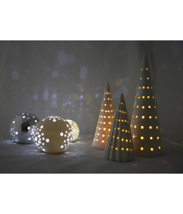 Bahne Kugel /Ball  mit LED Beleuchtung silber groß