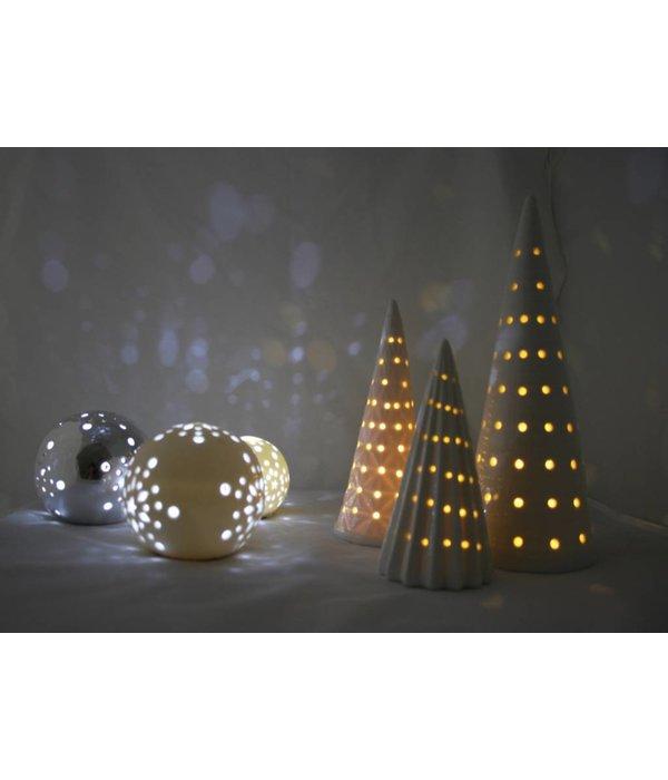 Bahne Weihnachtskugel /Ball  mit LED Beleuchtung weiß groß