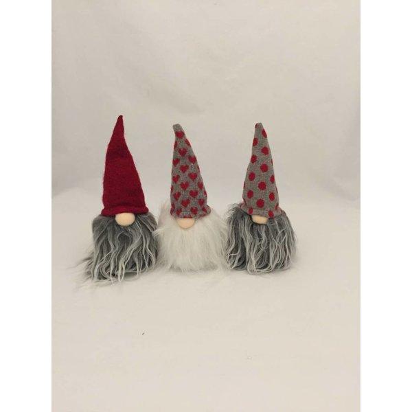 Wichtel 3er Set - Grau/rot