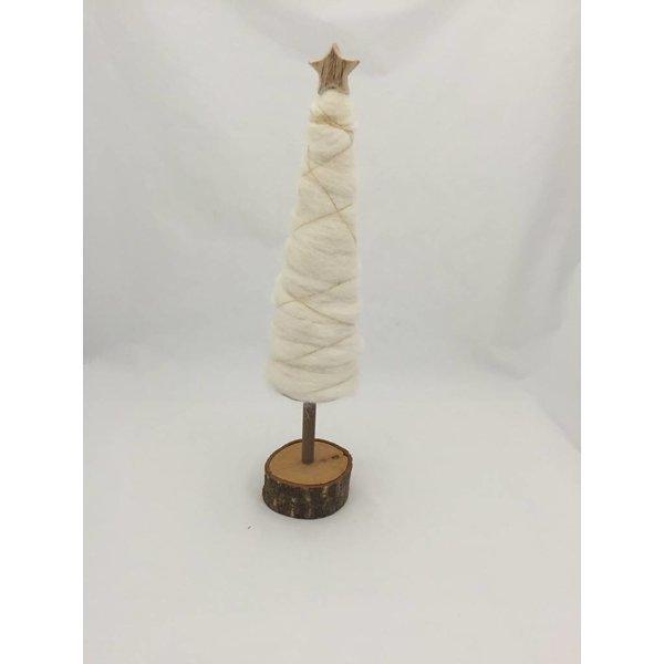 Weihnachtsbaum Wolle mit Golddraht  und Stern