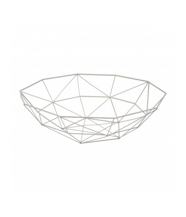 Pyntshop Korb/Schale weiß 37,5 cm