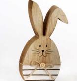 Hase mit Knickohr klein 14 cm aus Holz