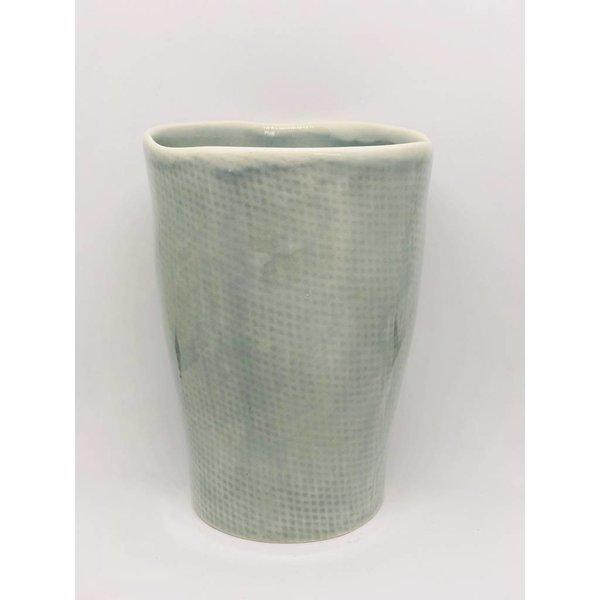"""Kaffeebecher grau blau von """"Kitchen Trend"""" 7,5x9 cm klein"""