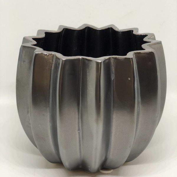 Blumentopf/Vase - schwarz braun - Ø 11 cm
