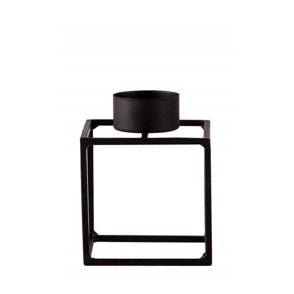 Teelichthalter Metall schwarz