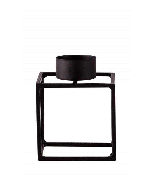 KJ Teelichthalter Metall schwarz