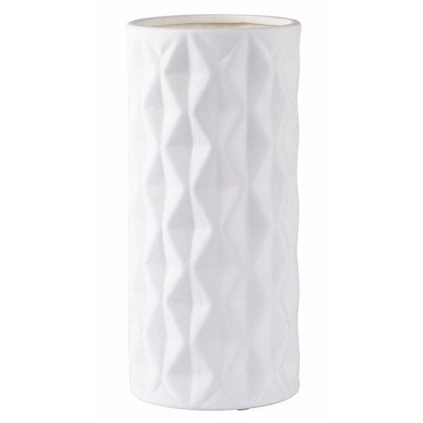 Vase  Retro Style weiß Keramik