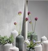 KJ Collection Vase Dolomitweiß/creme mittel tief