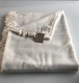 Wollzeit Plaid Decke  aus Schafwolle 100% Natur weiß