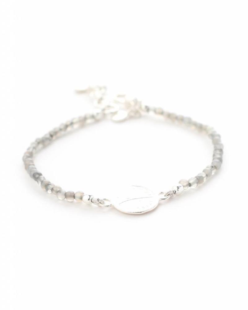 exoal locket bracelet with labradorite stones
