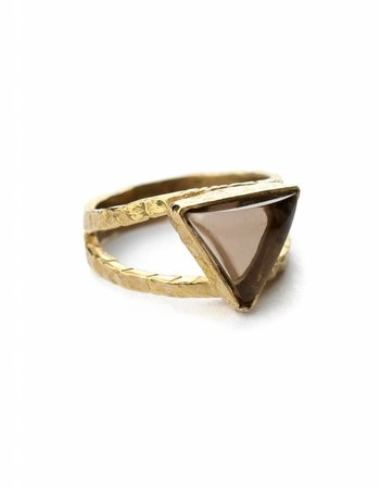 triangle quartz ring