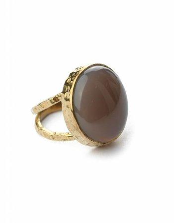 Grau calcedonite Ring